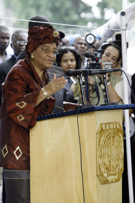 Liberian President at Inauguration of UNMIL Headquarters