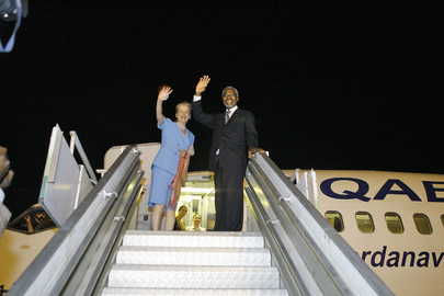 Secretary-General Departs from Côte d'Ivoire