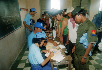 Cambodian Election Held Under UN Supervision
