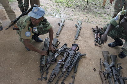 United Nations Blue Helmets Help Disarm Militias in Côte d'Ivoire