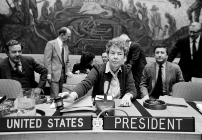 Jeane J. Kirkpatrick, Security Council President