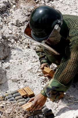 Unexploded Ordnance Destroyed by UN Demining Battalion in Lebanon