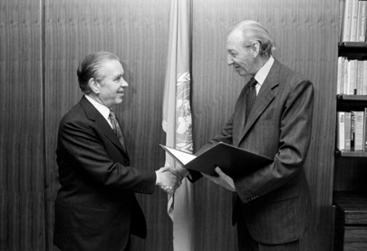 New Permanent Representative of the Soviet Union Presents Credentials