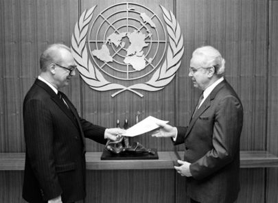 New Permanent Representative of Union of Soviet Socialist Republics Presents Credentials
