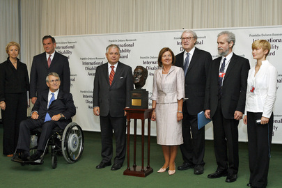 Disability Award Presentation at United Nations