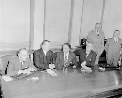 "Representatives of ""Big Four"" Announce the Lifting of Berlin Blockade by 12 May"