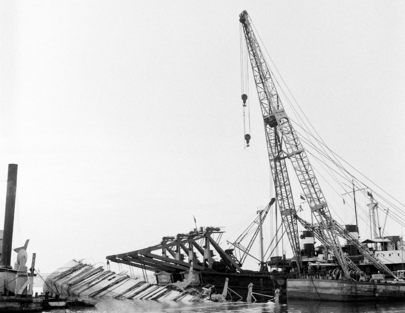 Salvage Work in the Suez Canal