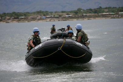 United Nations Peacekeepers on Patrol in Democratic Republic of Congo
