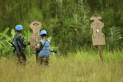 MONUC Peacekeepers in Shooting Exercise