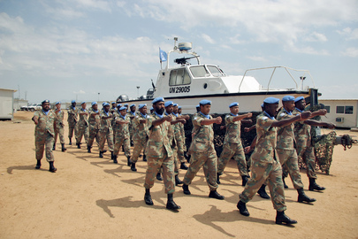 South African Peacekeepers&#039; Farewell and Medal Parade