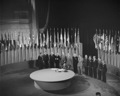 San Francisco Conference: Norway Signs United Nations Charter