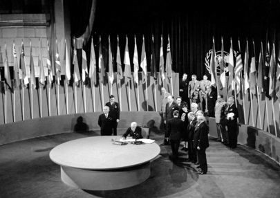 The San Francisco Conference, 25 April - 26 June 1945: The United States Sign the United Nations Charter