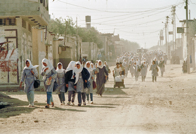 Schoolgirls in Gaza