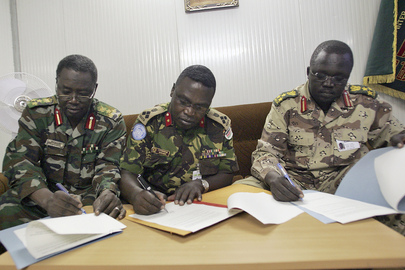 Ceasefire Joint Monitoring Commissioners Sign Ceasefire Agreement