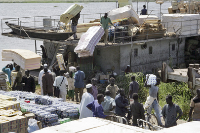 War-Torn Sudanese Town Receives Supplies