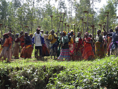 Women Villagers Prepare for Terracing
