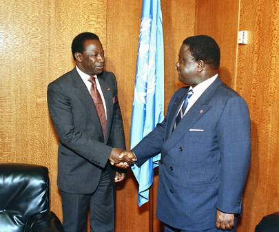 President of 49th Session of General Assembly meets with President of Côte d'Ivoire