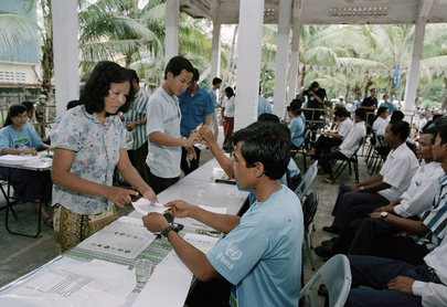 Cambodian Election Held Under Supervision of UNTAC