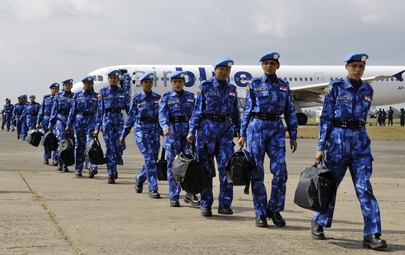 United Nations Peacekeepers Arrive in Liberia
