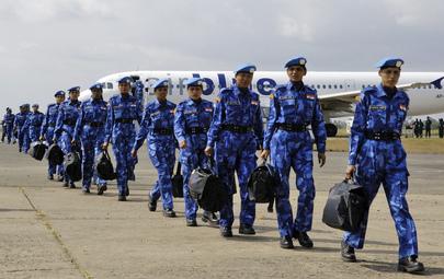 United Nations Peacekeepers Arrive in Liberia