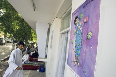Afghan Men at Drug Treatment Centre
