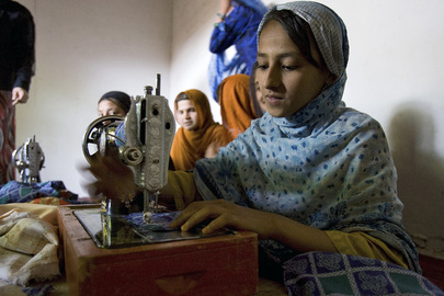 Afghan Girls Take Vocational Training Programme