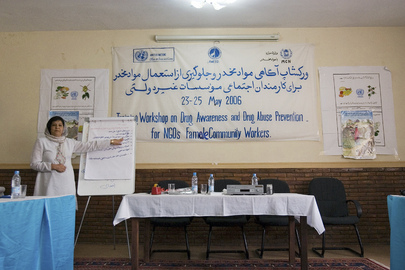 Workshop on Drug Awareness and Drug Abuse Prevention Held in Afghanistan