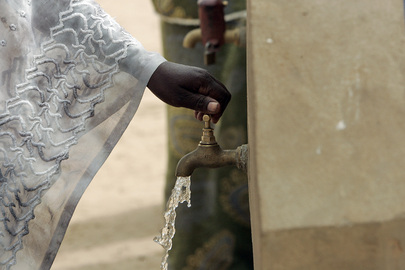 Clean Drinking Water Runs From a Faucet in Senegal