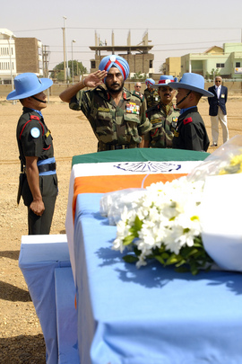 Indian Peacekeeper's Farewell