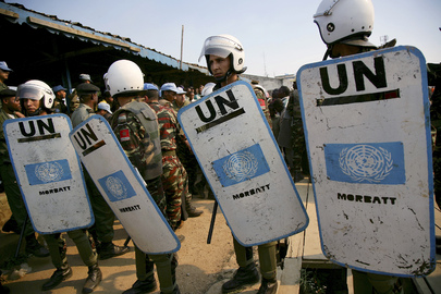 Peacekeepers Provide Security at Trial in DR Congo