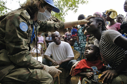 UN Peacekeepers in Medical Outreach Programme in Liberia