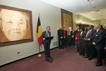 Belgium Presents Gift to United Nations