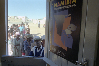 Namibians Register to Vote Under the Supervision of UNTAG Staff
