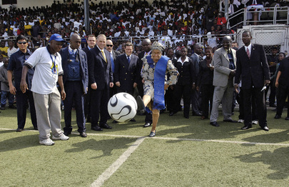 Launch of 'Sport for Peace' Soccer Tournament in Liberia