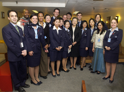 Wife of UN Secretary-General Visits Tour Guides