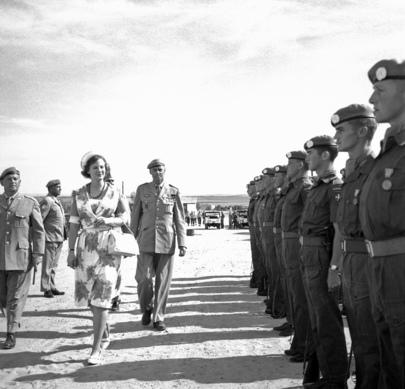 H.R.H. Princess Margrethe of Denmark Visits Danor Battalion of UNEF