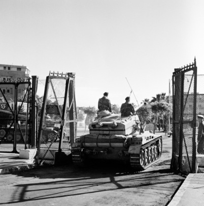 French Hand Over Port Fouad to UN Emergency Force (UNEF)