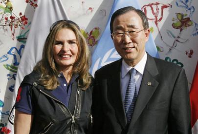 Secretary-General Meets UNDP Goodwill Ambassador in Egypt