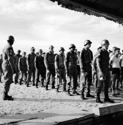 UNEF Troops from Brazil Guard Maintenance Area