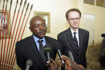 Burundi President and Peacebuilding Commission Vice-President Brief Media