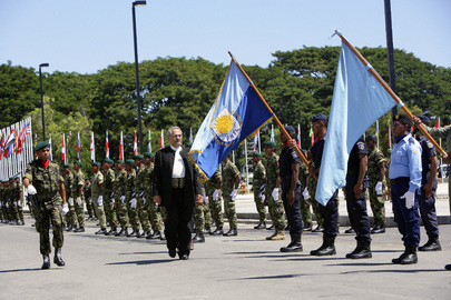 Timor-Leste's New President Inspects Guard of Honour