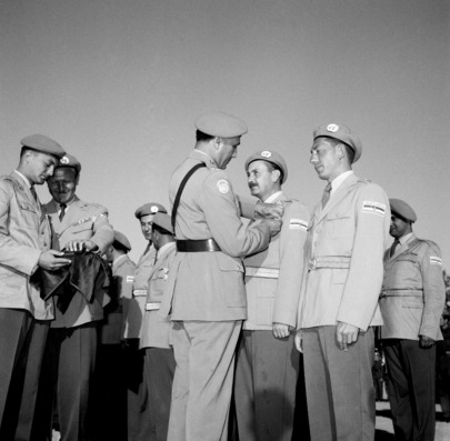Medal Presentation for Yugoslavs in Gaza