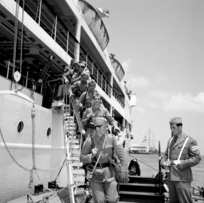 Rotation of Yugoslav UNEF Troops at Port Said