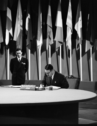 raq Signs the United Nations Charter