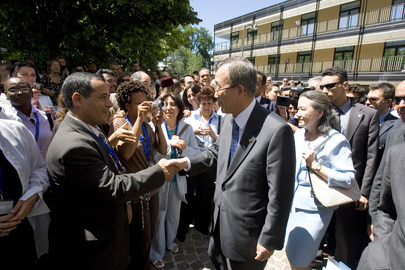 Secretary-General Visits United Nations Campus in Turin