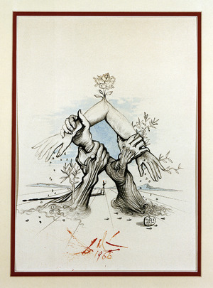 Salvador Dali Picture Donated by the Artist