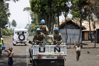 MONUC Peacekeepers en route to Sake in DRC