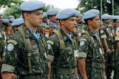 Brazilian Troops on Parade in Angola