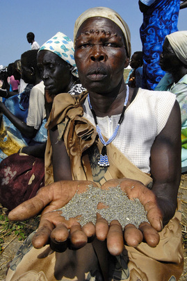 WFP Food Distribution Recipient in Southern Sudan
