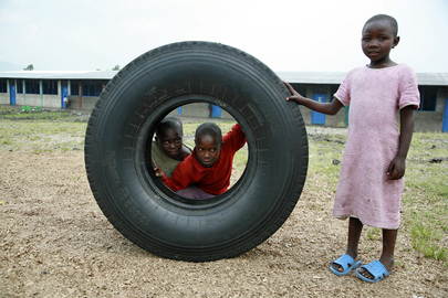 Children at Rehabilitation Centre Play on Grounds